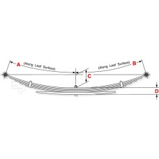 73-91 G30/3500 (1 Ton Only) Extra Heavy Duty Rear Leaf Spring