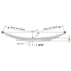 11-16 2500 and 3500 HD Series Pickup Standard Leaf Spring