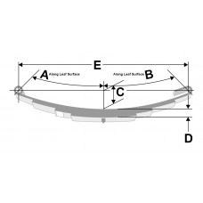 1,750 Pound Capacity Loop Trailer Leaf Spring