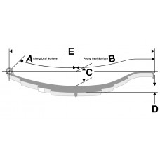 1,000 Pound Capacity Hook Trailer Leaf Spring