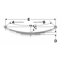 1,150 Pound Capacity Trailer Leaf Spring