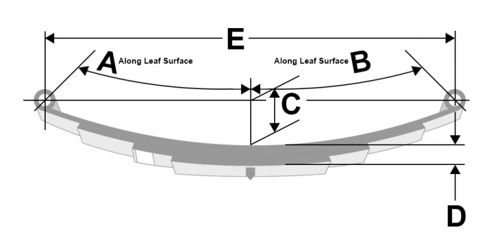 1,250 Pound Capacity Trailer Leaf Spring